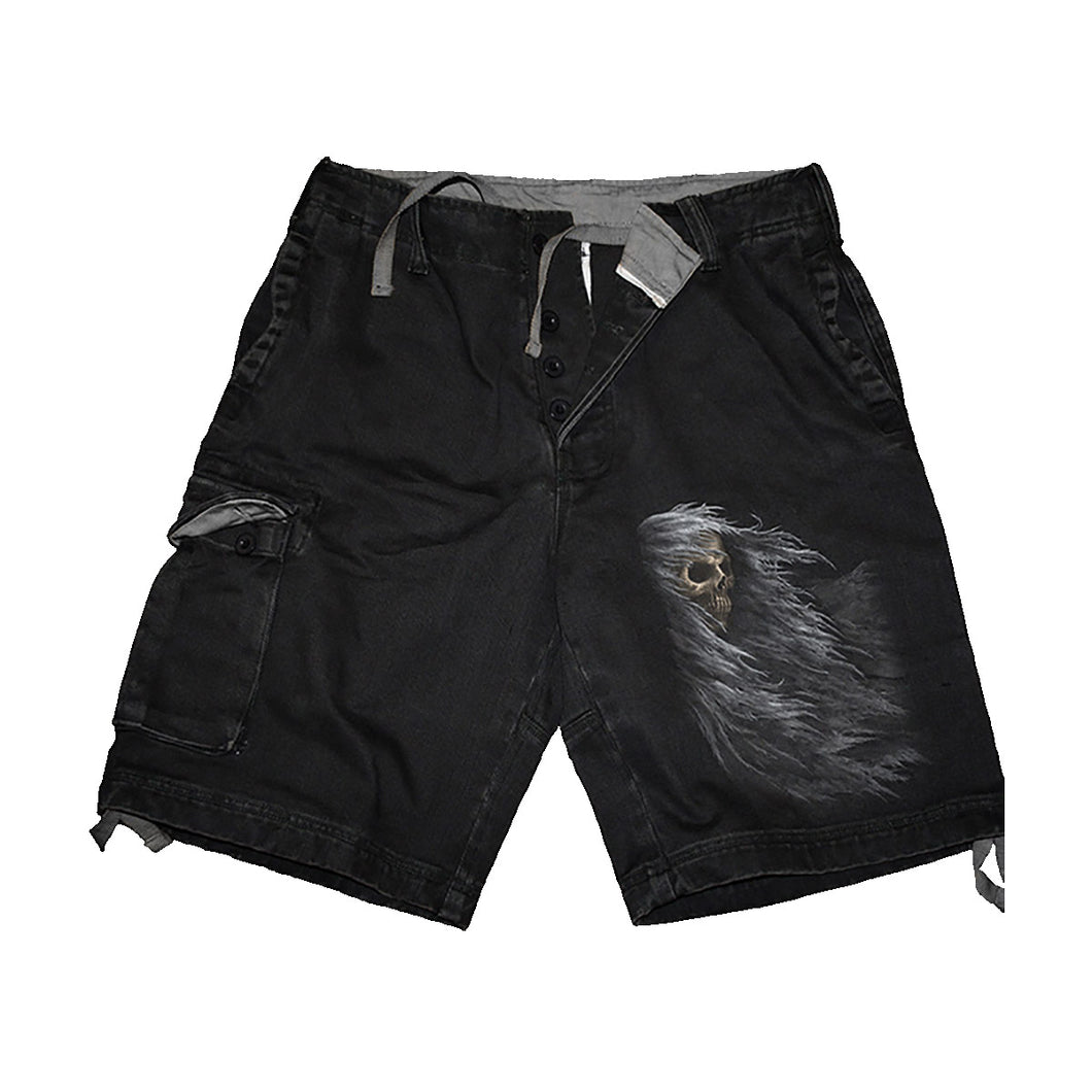 SHADOW OF DEATH  - Vintage Cargo Shorts Black
