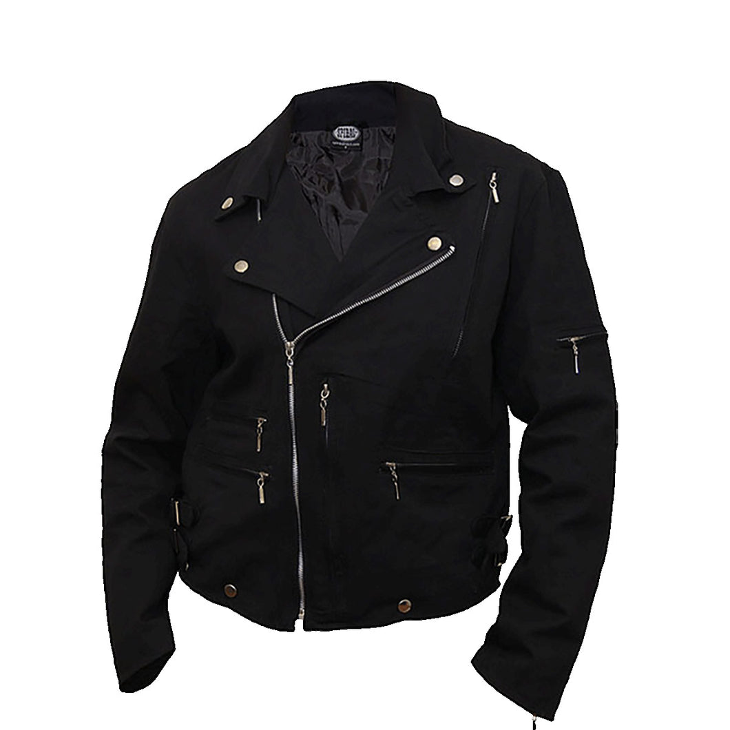 RIDE TO HELL  - Lined Biker Jacket Black