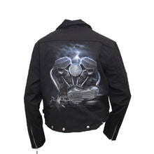 Load image into Gallery viewer, RIDE TO HELL  - Lined Biker Jacket Black