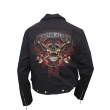 Load image into Gallery viewer, HELL RIDER  - Lined Biker Jacket Black