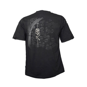 DEATH CRYPT  - Rollup Sleeve T-Shirt Black