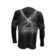 Load image into Gallery viewer, STRAPPED  - Allover Longsleeve T-Shirt Black