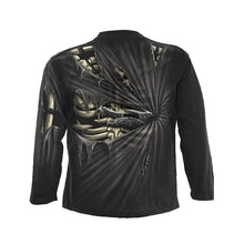 Load image into Gallery viewer, BONE SLASHER  - Allover Longsleeve T-Shirt Black