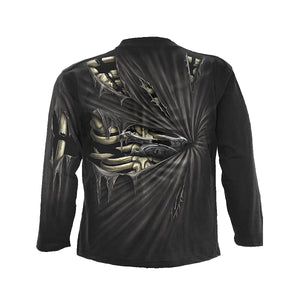 BONE SLASHER  - Allover Longsleeve T-Shirt Black