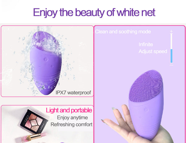 Sonic Silicone Facial Cleansing Brush