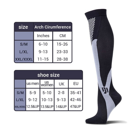 Spandex Compression Socks for Muscle Recovery