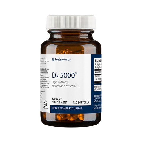 Metagenics D3 5000 Vitamin D3 120 Softgels