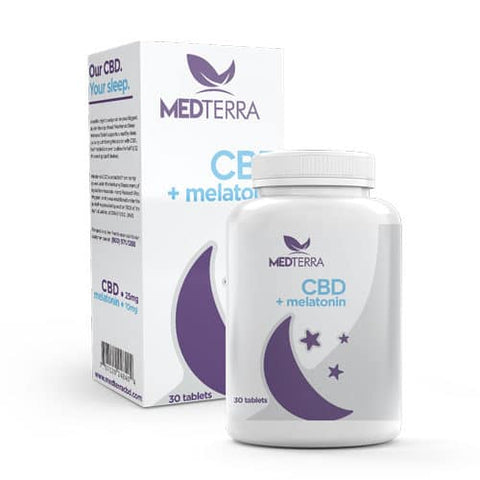 MedTerra CBD + Melatonin Dissolvable Sleep Tablets - Free Shipping