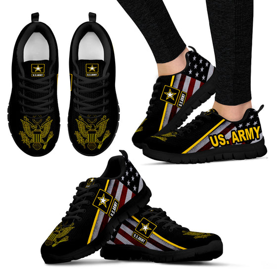 538f2fabc17 US Army Women s Sneakers Running Shoes Black