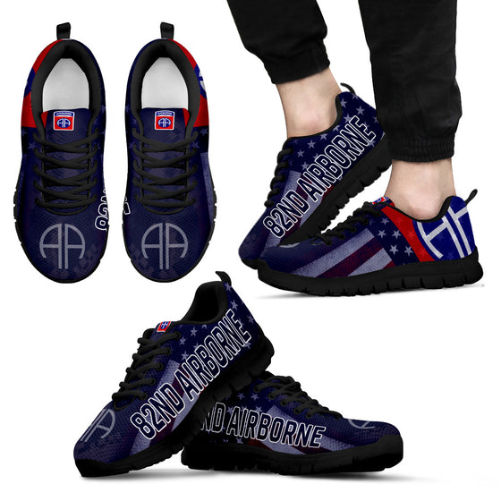 82nd Airborne Division Black Men's Sneakers