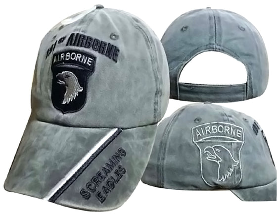 11c52b1a095 101st Airborne Screaming Eagles Olive Shadow Embroidered Cap CAP626B (TOPW)