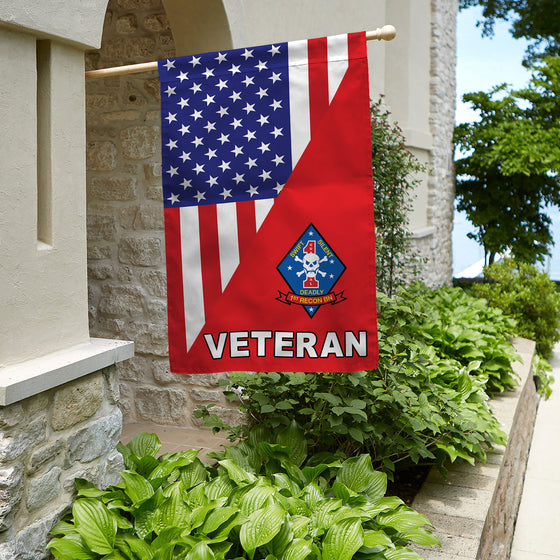 1st Recon BN Deadly Veteran House Flag Double-sided Print