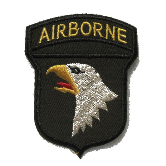 2 Pieces 101st Airborne Division Screaming Eagles Iron-on Embroidered Patch
