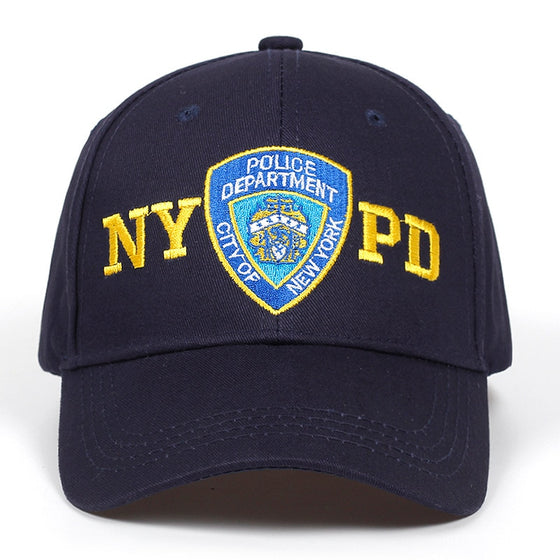 2019  NYPD embroidery baseball cap outdoor 100% cotton hat