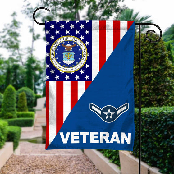 US Airforce Rank Air Force Veteran Garden Flag Double-sided Print