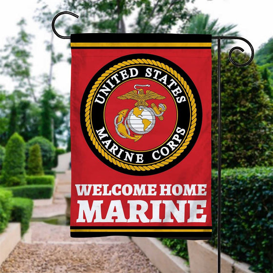 Welcome Home Marine Garden Flag Double-sided Print