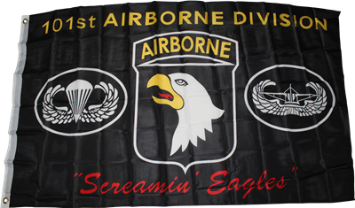 U.S. Army 101st Airborne Screaming Eagles Flag 3ft x 5ft Polyester Banner