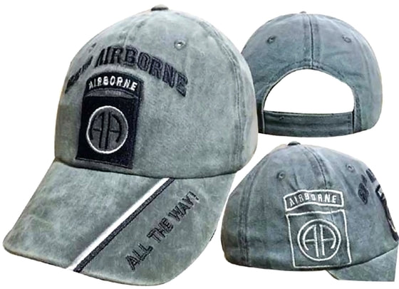 82nd Airborne All The Way! Olive Shadow Embroidered Cap CAP627B (TOPW)