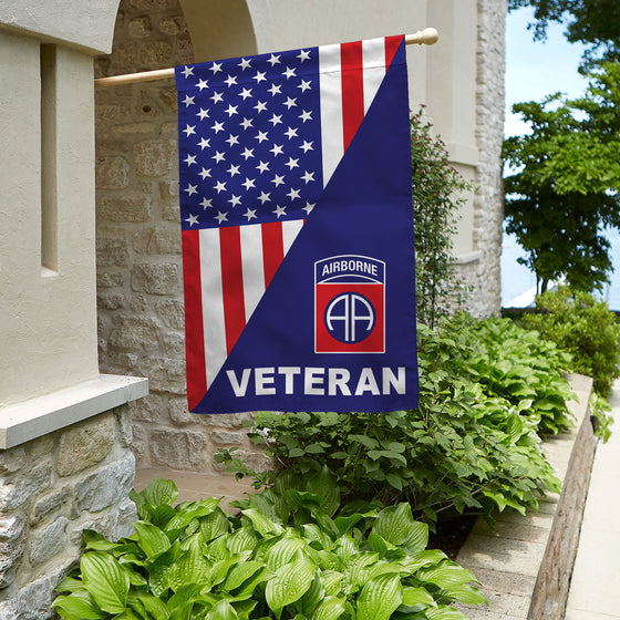 82nd Airborne Division Veteran House Flag Double-sided Print