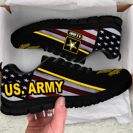US Army Sneakers Running Shoes Black