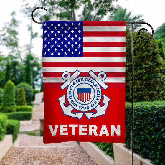 New US Coast Guard Veteran Garden Flag Double-sided Print