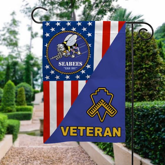 US SEABEES CONSTRUCTION BN VETERAN GARDEN FLAG Double-sided Print