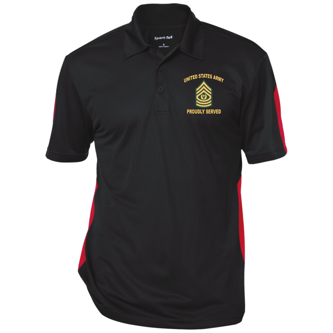 Army Proudly Served E9 – command sergeant major (CSM) windshirt jacket polo