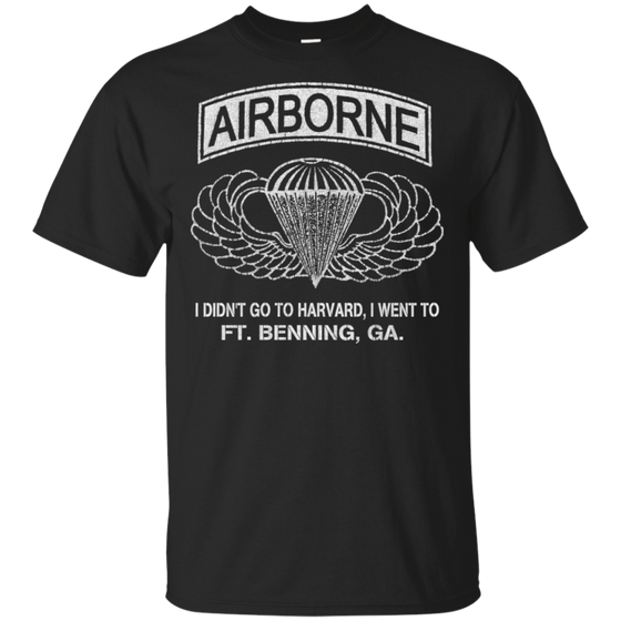 I Went to Fort Benning Airborne School Paratrooper Shirt