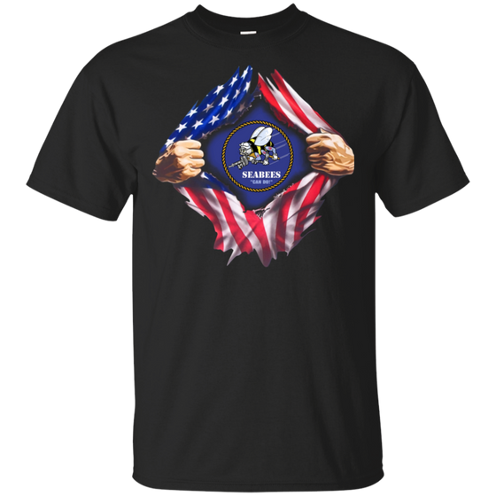 Flag Torn Seabees shirt