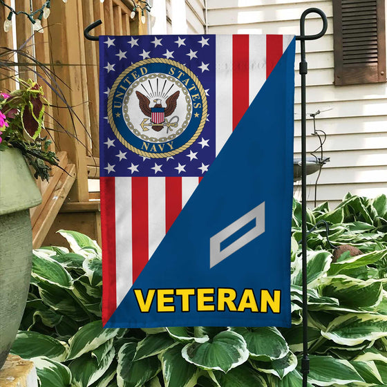 US. Navy Chief Petty Officer Veteran Garden Flag