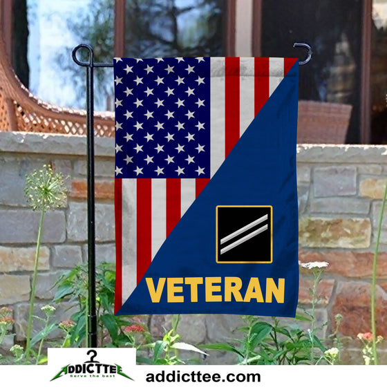 Rank US. Navy Veteran Garden Flag