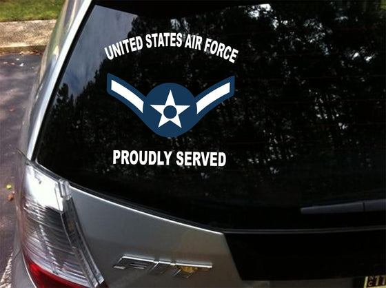 2PCS/LOT Air Force USAF AF Rank E2 Through E9 Air Force Rank Decals