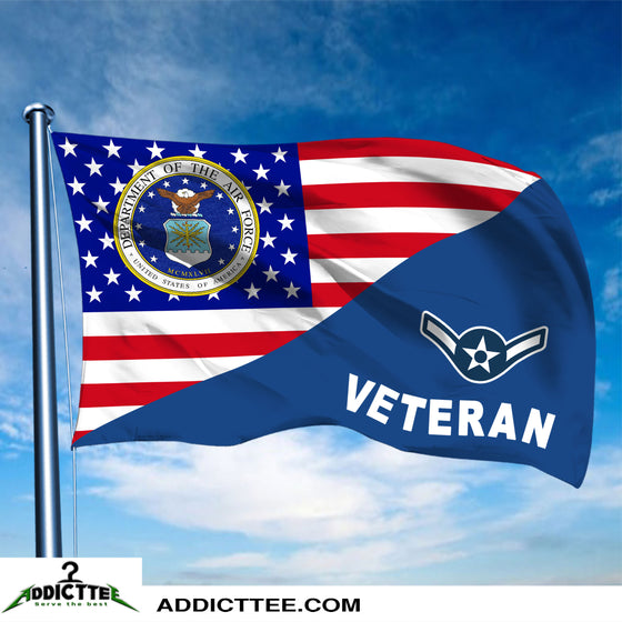 3x5 US Air Force Rank Veteran Flag