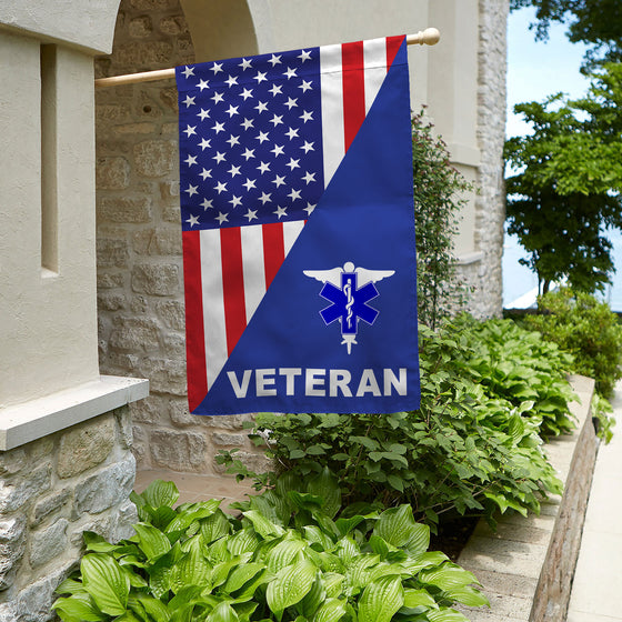 EMT Veteran House Flag Double-sided Print