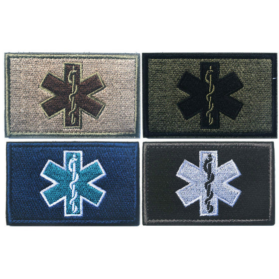 Emergency Medical Technician PARAMEDIC EMT Embroidered Patches Military Tactical Armband Hook&Loop Badge