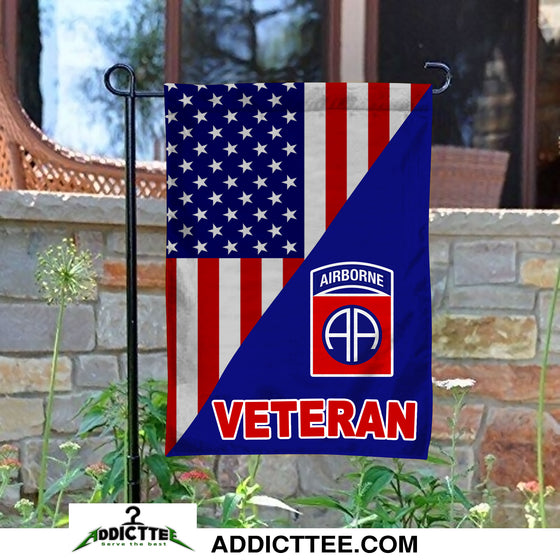 82nd Airborne Division Veteran Garden Flag Double-sided Print