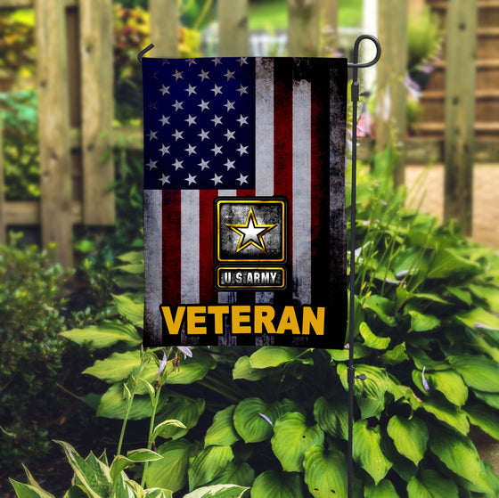 US Army Veteran Garden Flag2 Double-sided Print