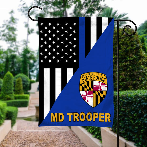 MD Troopers Police Garden Flag Double-sided Print