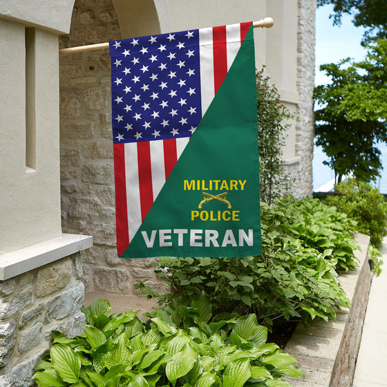 Military Police Veteran House Flag Double-sided Print