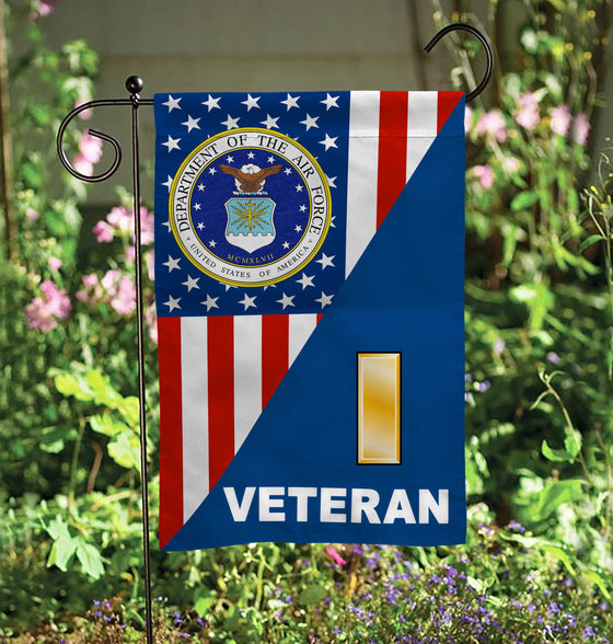 USAF Officer Rank Veteran Garden Flag Double-sided Print