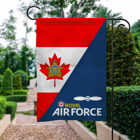 Royal Canadian Air Force Rank Garden Flag Double-sided Print