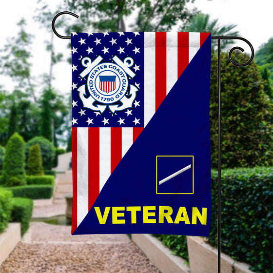 Coast Guard Ranks Veteran Garden Flag 2 Double-Sided Print