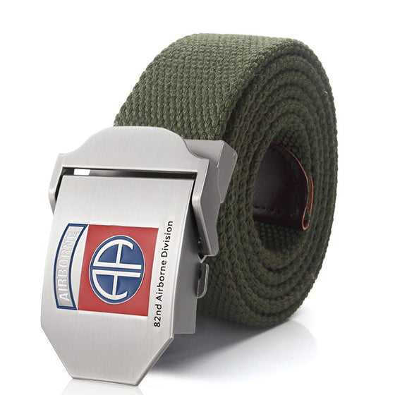 82nd Airborne Division luxury Metal buckle belt Army tactical belts for Men strap male
