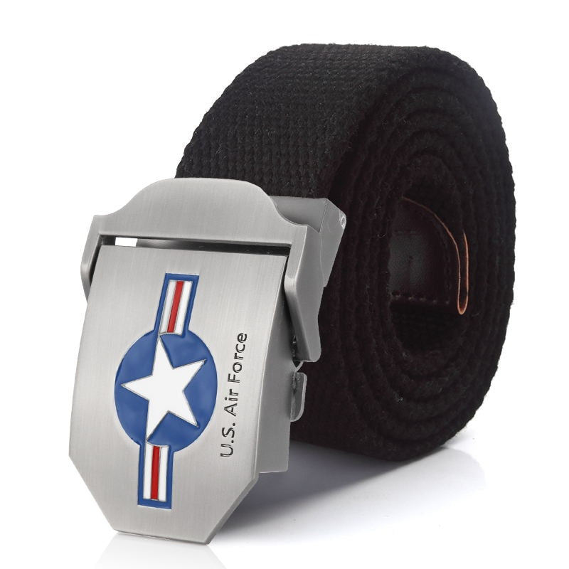 US Air Force Belt Metal buckle jeans waist belt Army tactical belts for Men  strap male