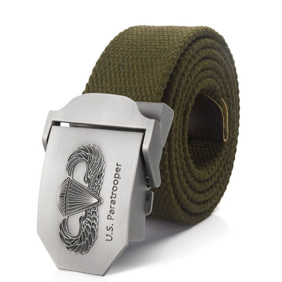 US paratrooper Metal buckle jeans belt Army tactical belts for Men strap male