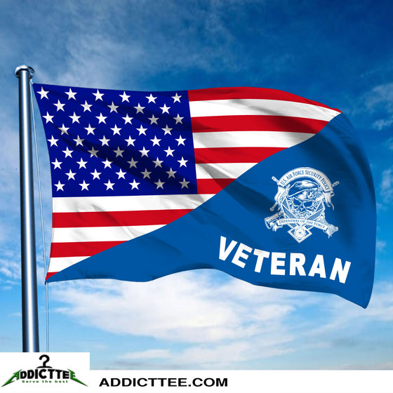 New large 3'x5' Security Forces veteran flag