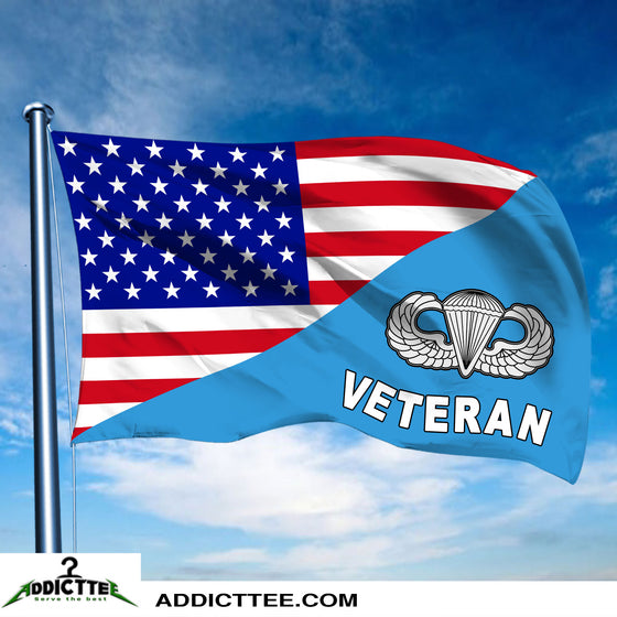 3x5 US Paratrooper Veteran Flag