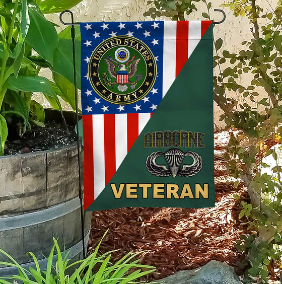 Army Seal Mix Airbone Garden Flag Double-sided Print