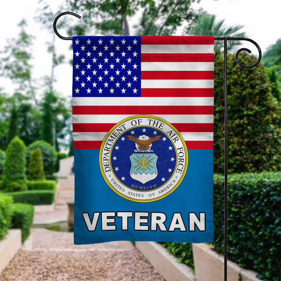 New US Air Force Veteran Garden Flag Double-sided Print