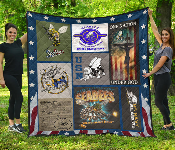 US Navy Seabees Quilt